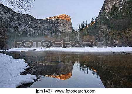 Picture of When water is calm at Mirror lake, the lake offers.