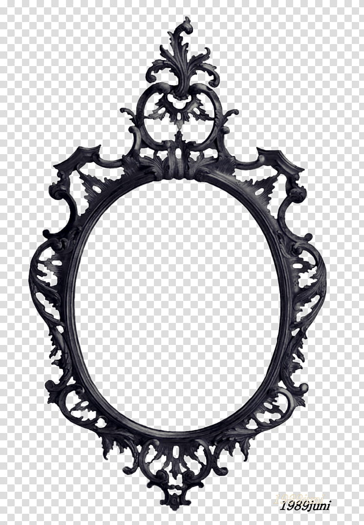 HALLOWEEN O, black wall mirror transparent background PNG.