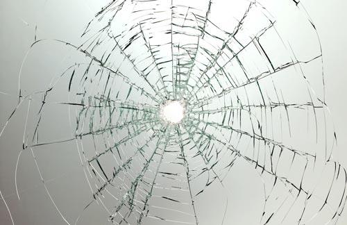 Broken glass textures effect.