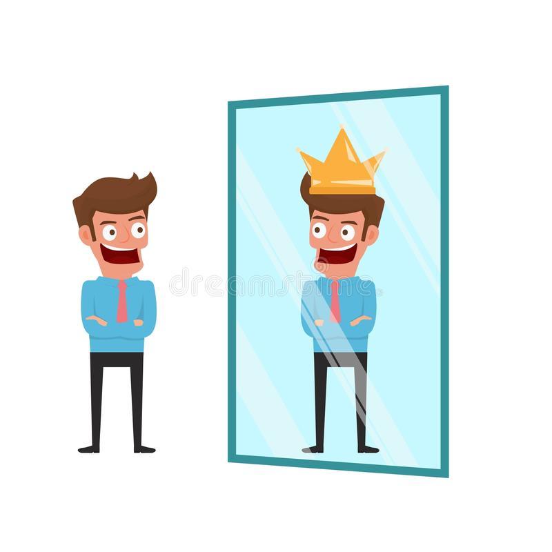 Mirror Reflection Stock Illustrations.