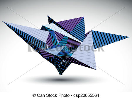 Clip Art Vector of Cybernetic polygonal contrast element.