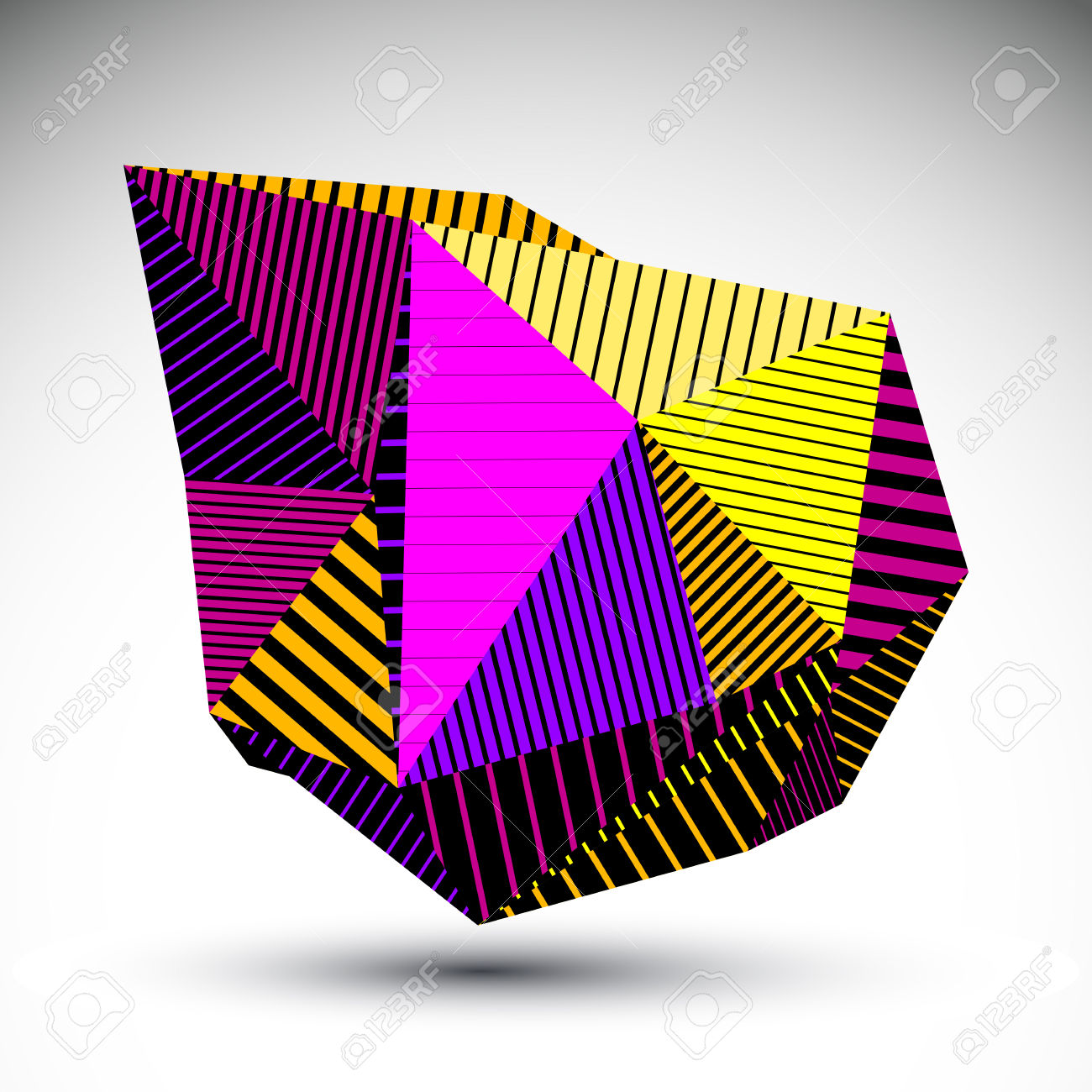 Multifaceted Eps8 Asymmetric Contrast Figure With Parallel Lines.