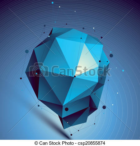 Vectors Illustration of Blue contemporary technological misshapen.