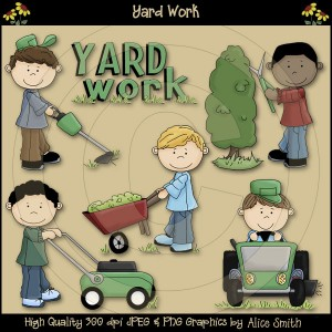 Miscellaneous Yard Work Clipart.
