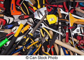 Stock Photos of Work tools on white background..