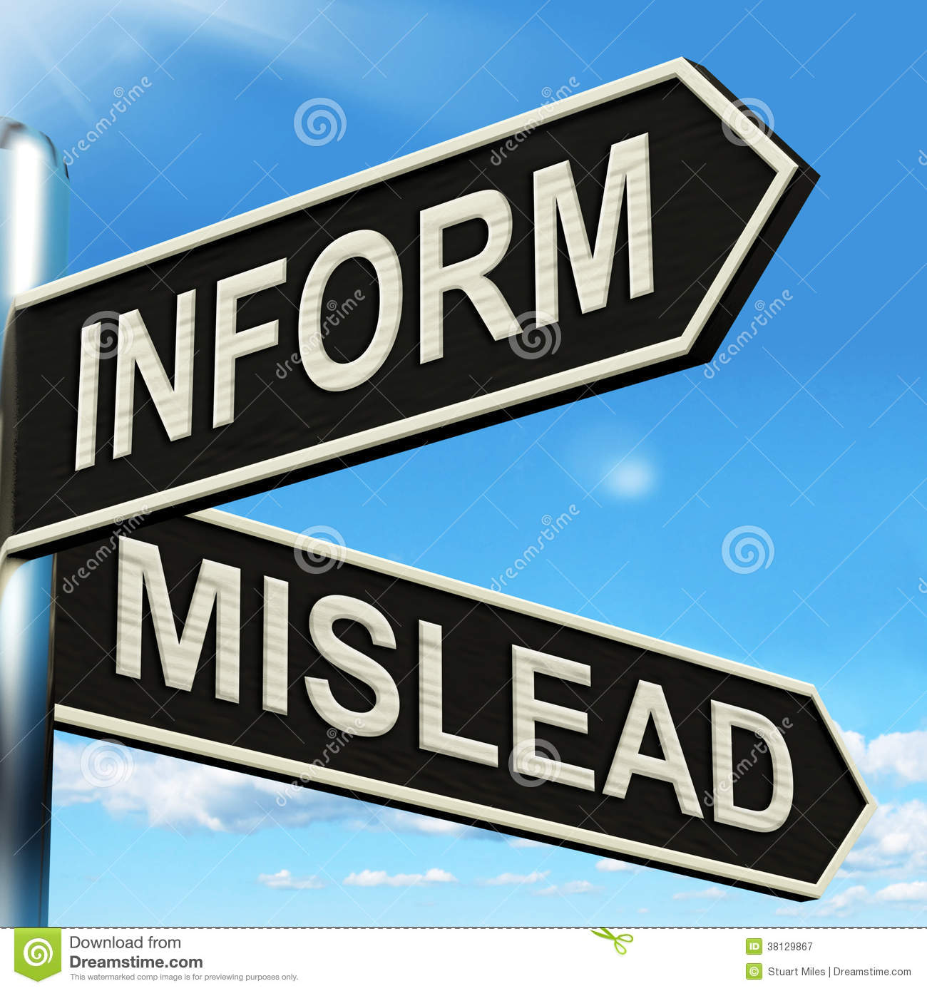 Mislead Inform Keys Shows Misleading Or Informative Advice Royalty.