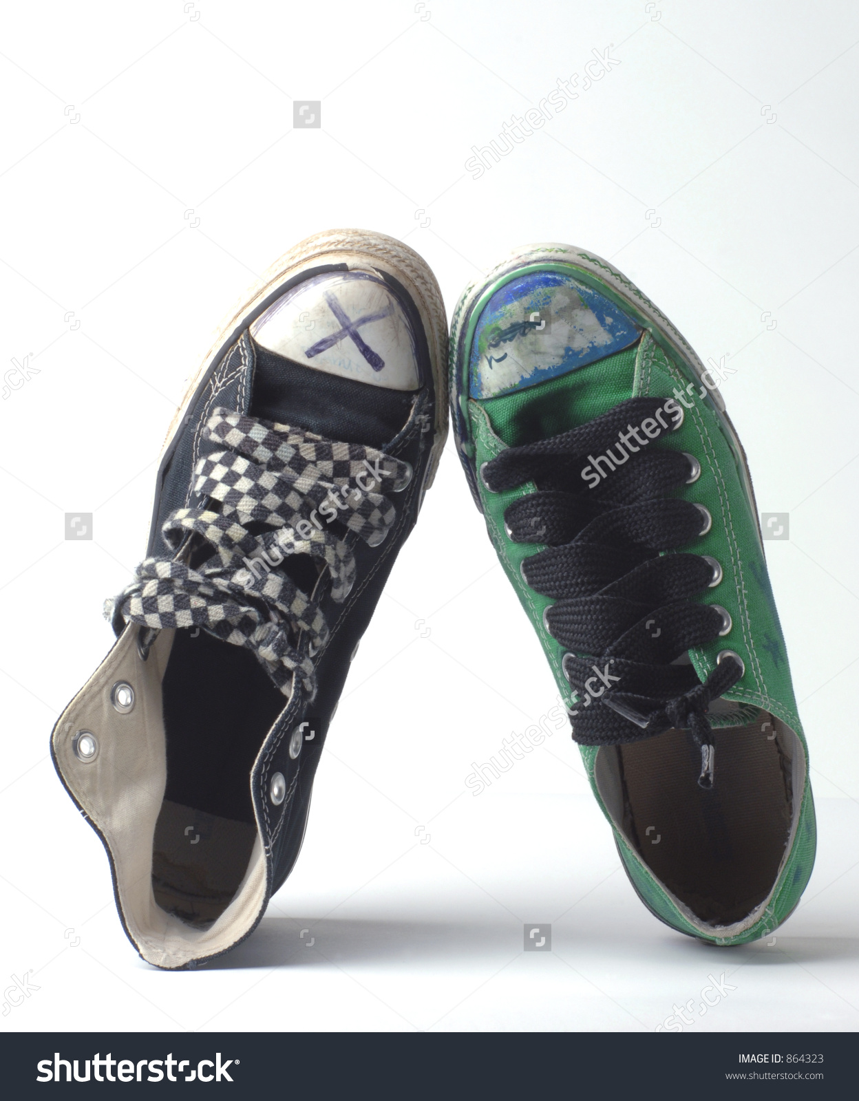 Pair Of Mismatched Shoes Stock Photo 864323 : Shutterstock.