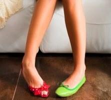 Mismatched Shoes.