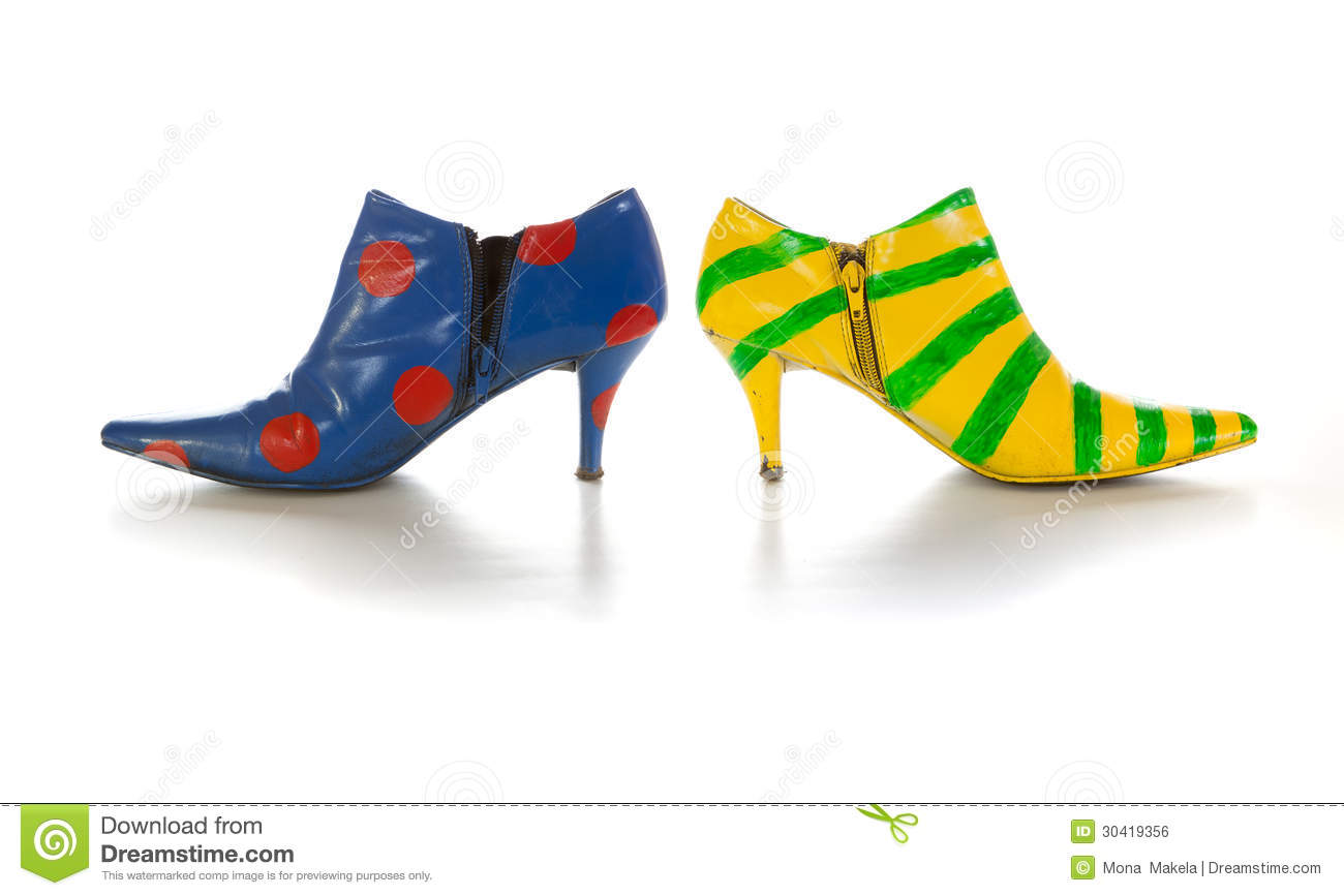 Mismatched Shoes Stock Photos, Images, & Pictures.