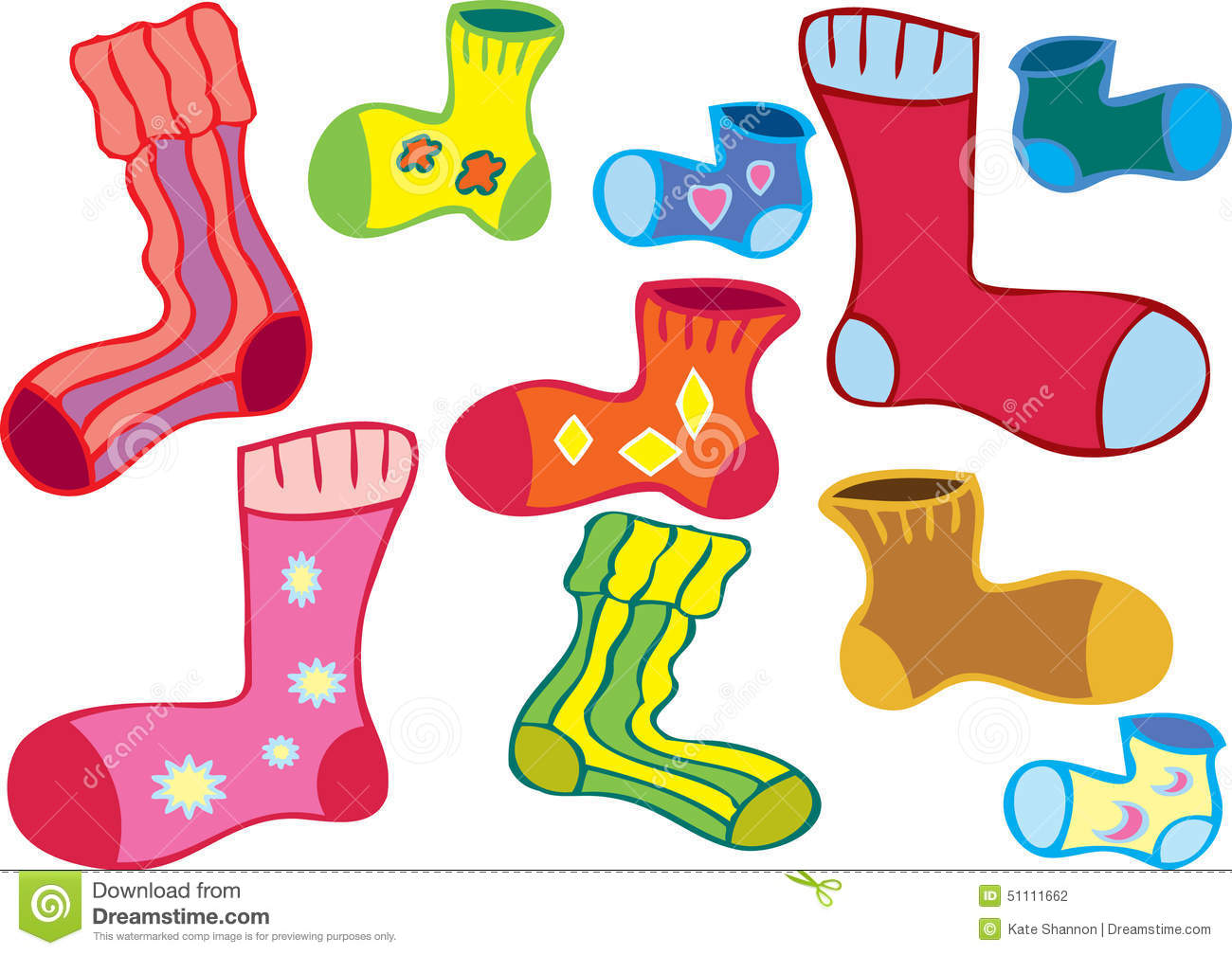 Odd Socks Stock Illustrations.