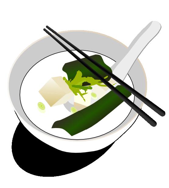 food miso soup miso soup black white line art scalable vector.