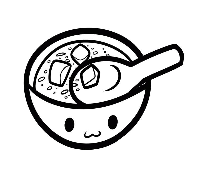 Soup Pot Coloring Page coloring page, coloring image, clipart images..