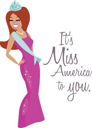 80 Miss America Cliparts, Stock Vector And Royalty Free Miss.