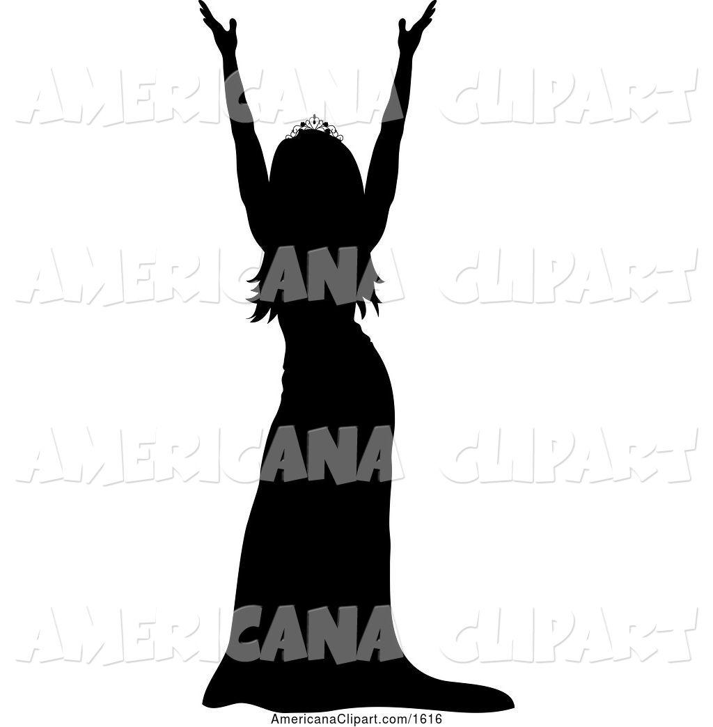 Americana Vector Clip Art of a Miss America Pageant Winner.