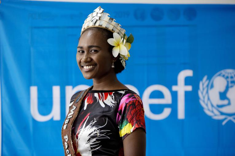 UNICEF PNG engages Miss PNG and Miss Pacific Islands 2018.