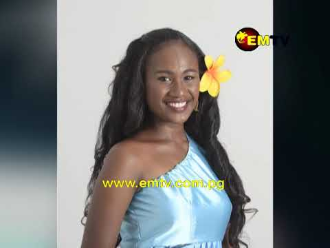 Miss Pacific Islands PNG Leashina Kariha in Tonga for Miss Pacific Islands  Pageant.