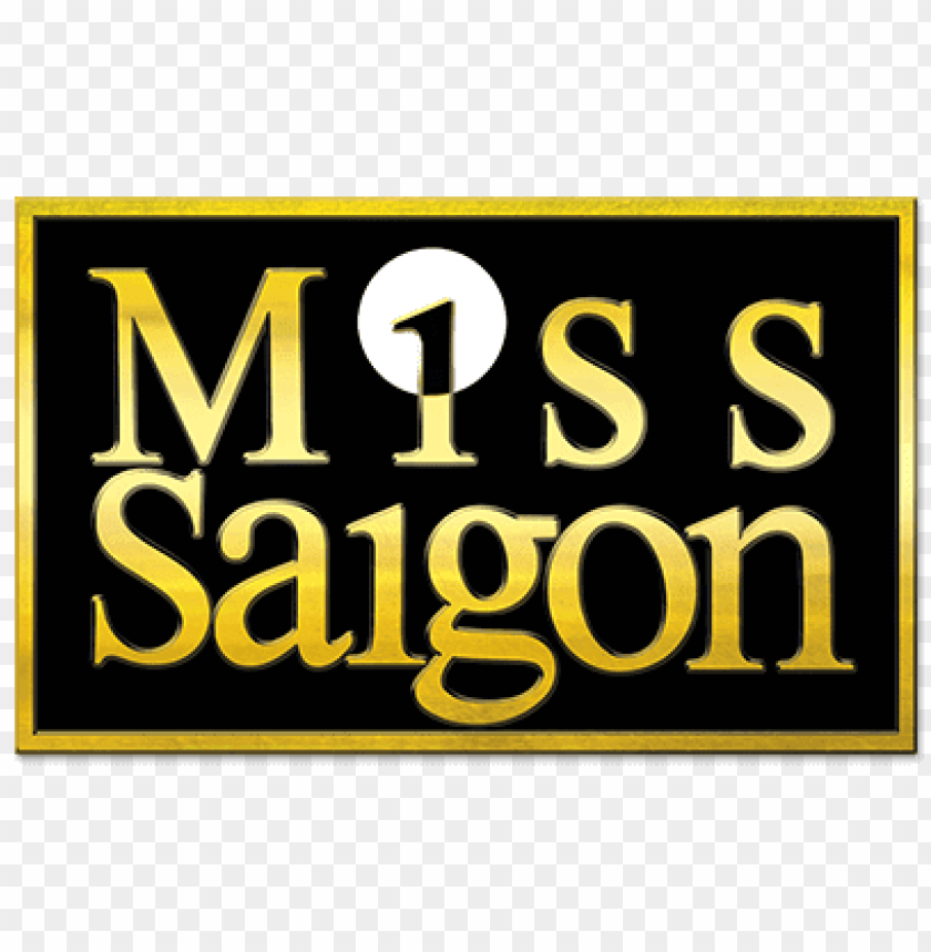 miss saigon logo PNG image with transparent background.