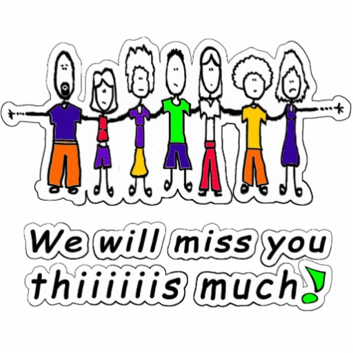 We will miss you clipart.