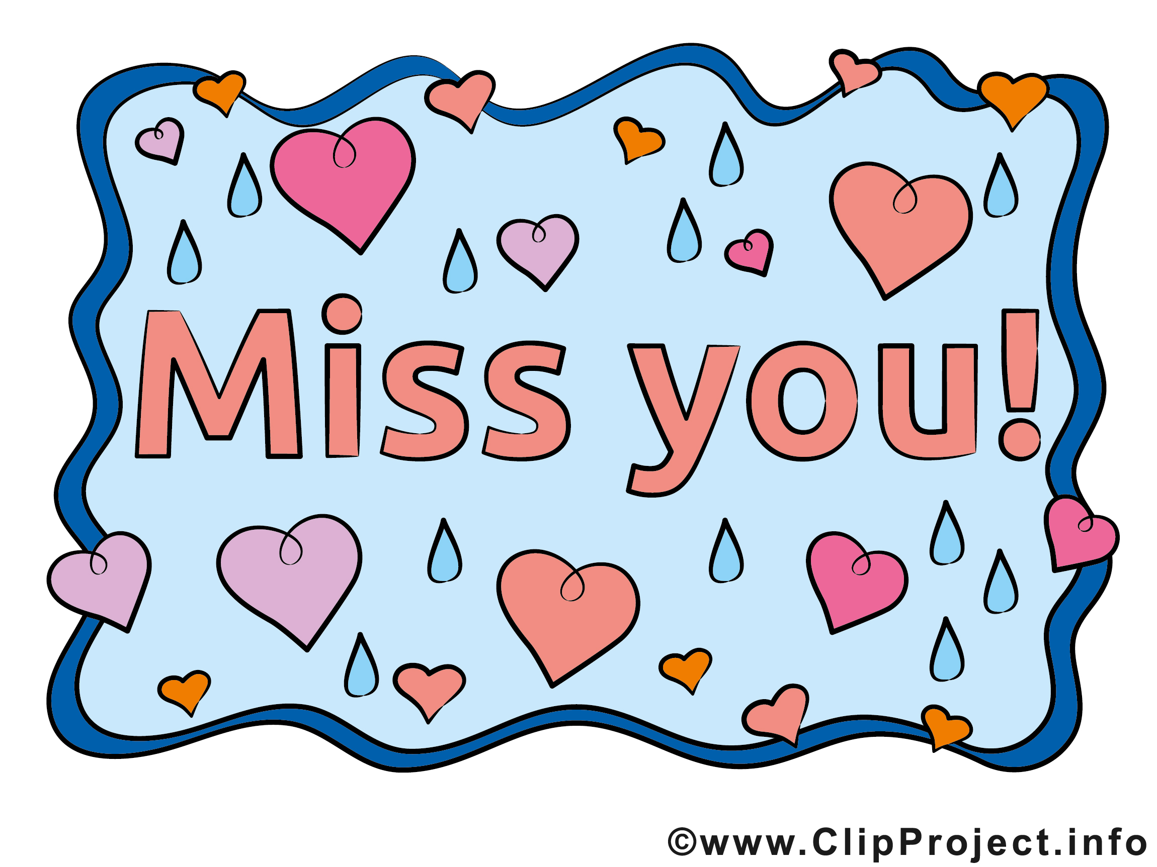 Bildtitel Miss You Karte Clipart free image.