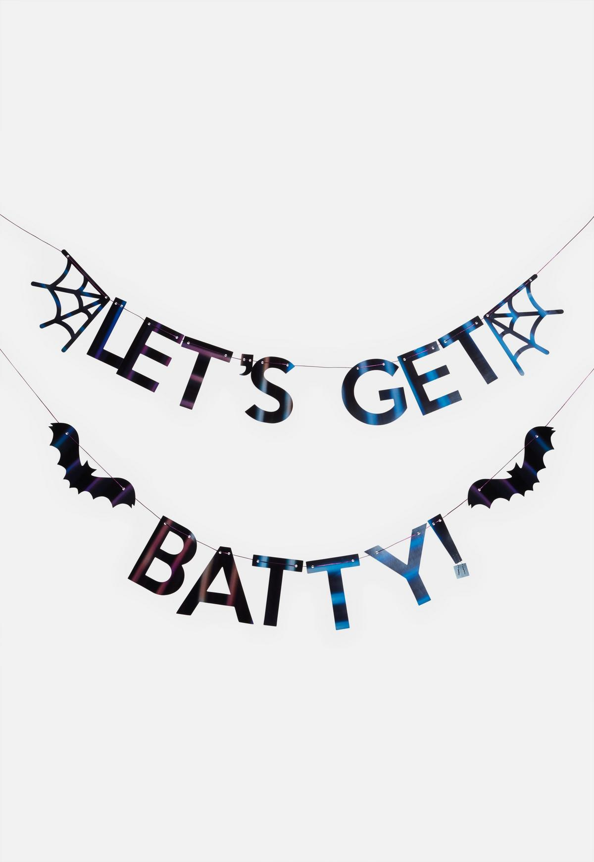 Ginger Ray Black Let\'s Get Batty Bunting.