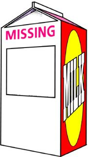 Create A Milk Carton For Missing Person.