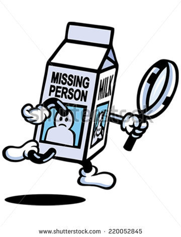Milk Carton Missing Stock Images, Royalty.