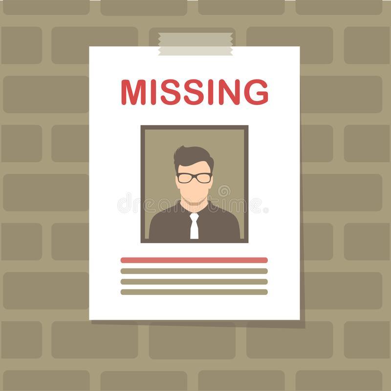 Missing Poster Stock Illustrations.