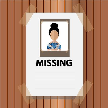 59 Missing Person Poster Stock Vector Illustration And.