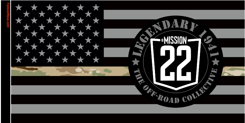 Legendary 1941 Mission 22 Subdued Camo Line Flag.