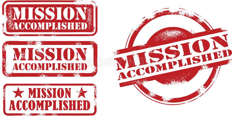 Accomplished Mission Stock Illustrations.
