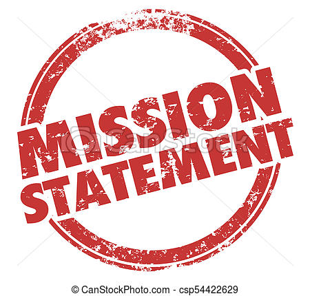 Mission Statement Goal Objective Round Stamp Words Illustration.