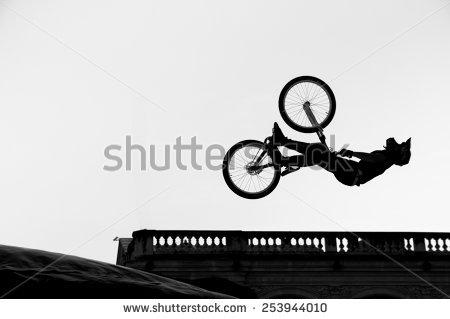 Bmx Jump Stock Images, Royalty.