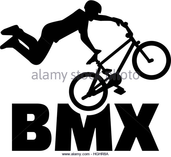 Bmx Bike Black and White Stock Photos & Images.