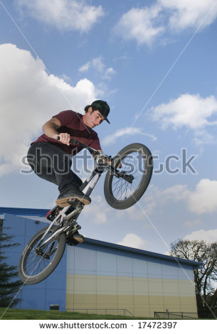 Bmx Rider Jumps With Big Air Stock Photo 17472397 : Shutterstock.