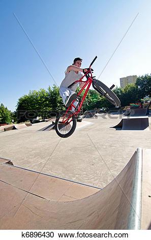 Stock Photography of BMX Bike Stunt bar spin k6896430.