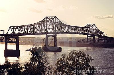 Mississippi River Bridge Stock Image.
