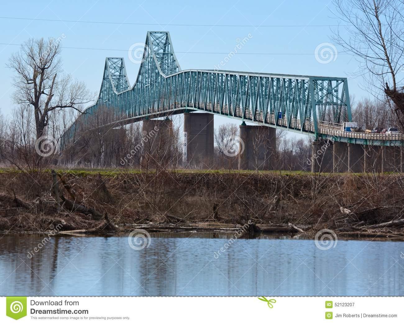 Cairo Mississippi River Bridge Editorial Photography.