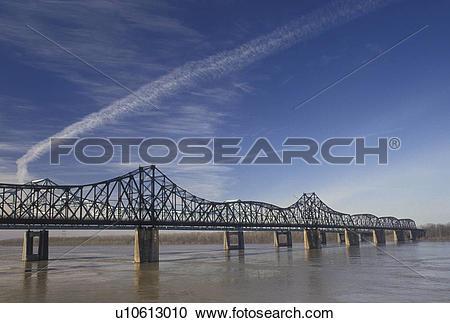 Stock Photography of bridge, Mississippi River, Vicksburg.