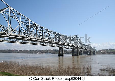 Stock Images of Bridge over the Mississippi River.