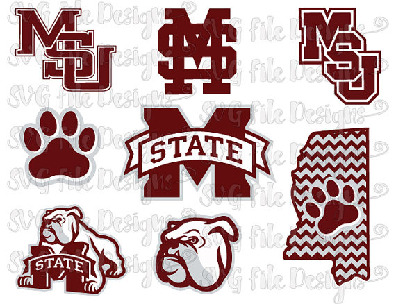 Mississippi State Bulldogs Football Logo Cutting File / Clipart.