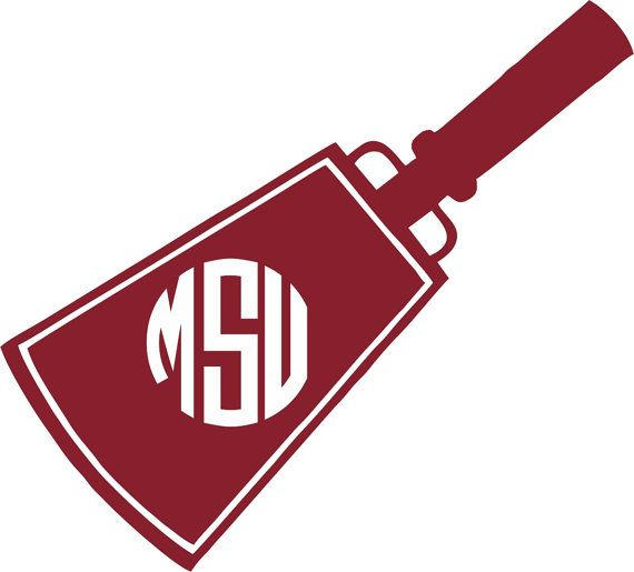 Mississippi State Cowbell Monogram Sticker by.