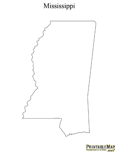 Mississippi State Map Outline Read Sources Mississippi State.