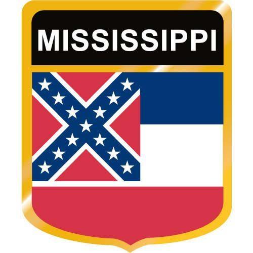 Mississippi Flag Crest Clip Art.