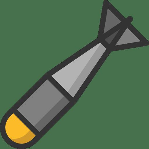 Missile Clipart transparent PNG.