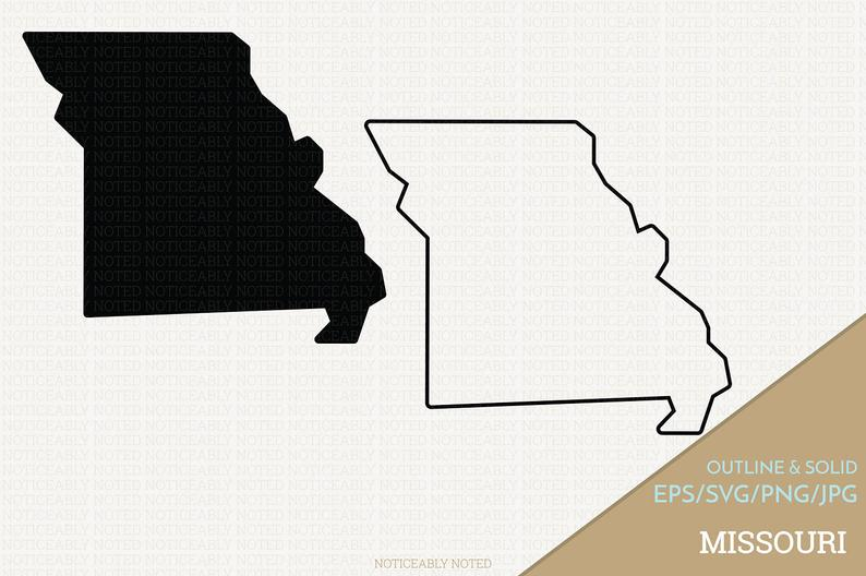 Missouri Vector, State Clipart, MO Clip Art, Missouri SVG, State PNG  (Design 13732).
