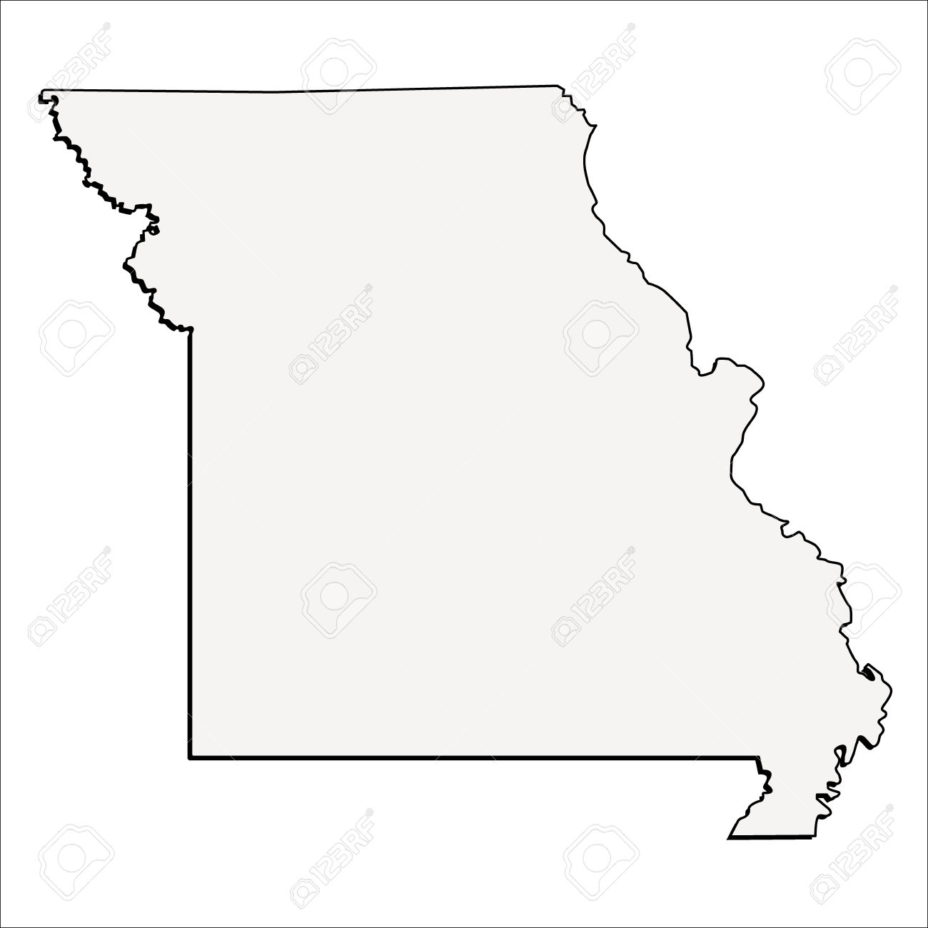 Missouri Map Vector Stock Vector Illustration And Royalty Free.