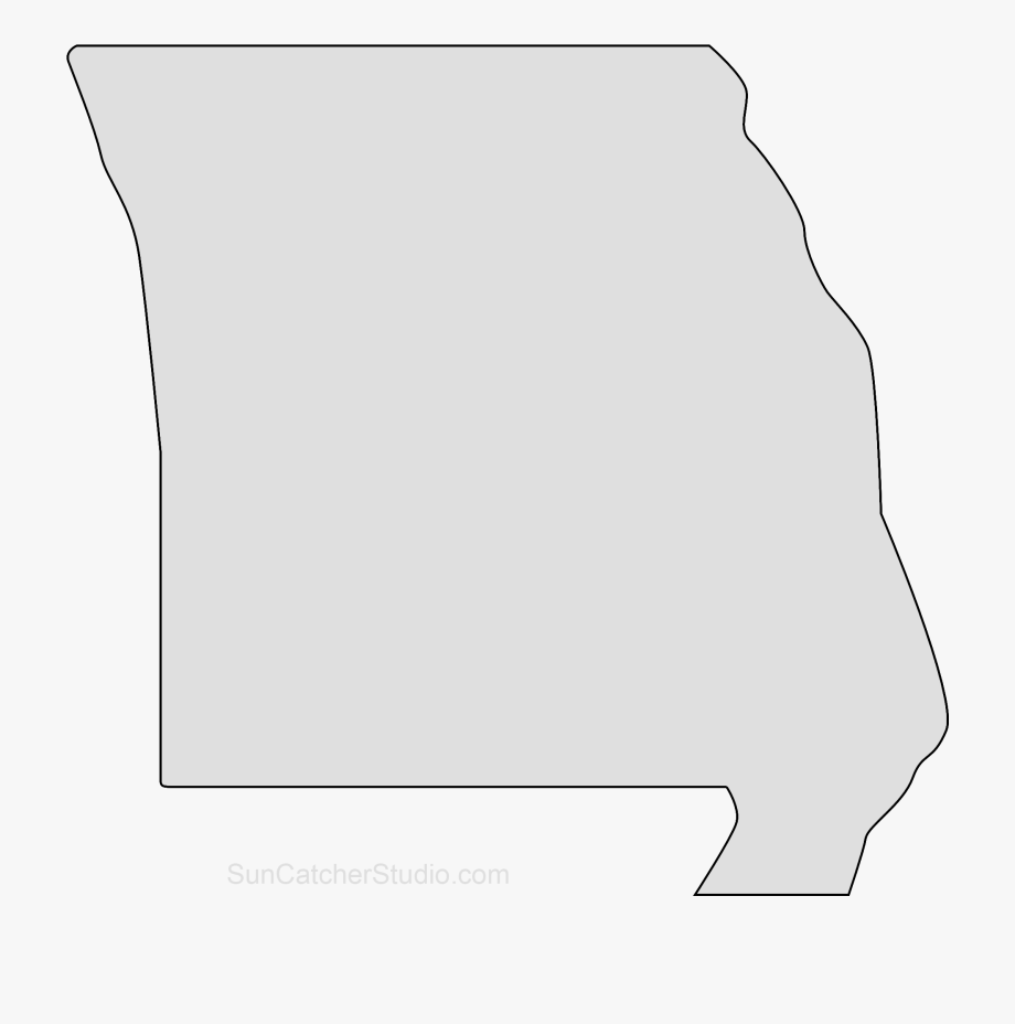 Outline Of Missouri State Shape , Transparent Cartoon, Free.