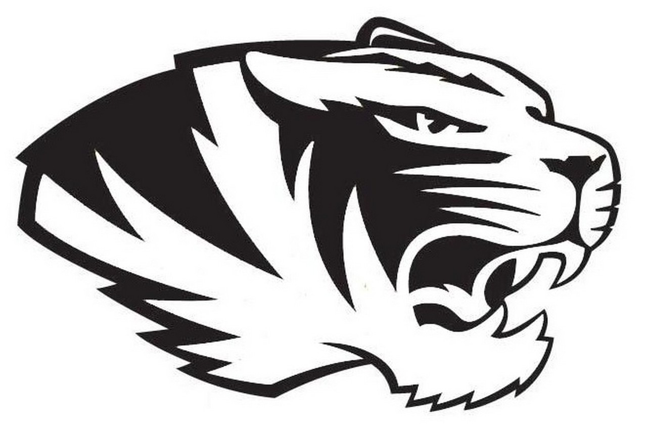 ncaa0272 Missouri Tigers head Logo Die Cut Vinyl Graphic Decal Sticker NCAA.