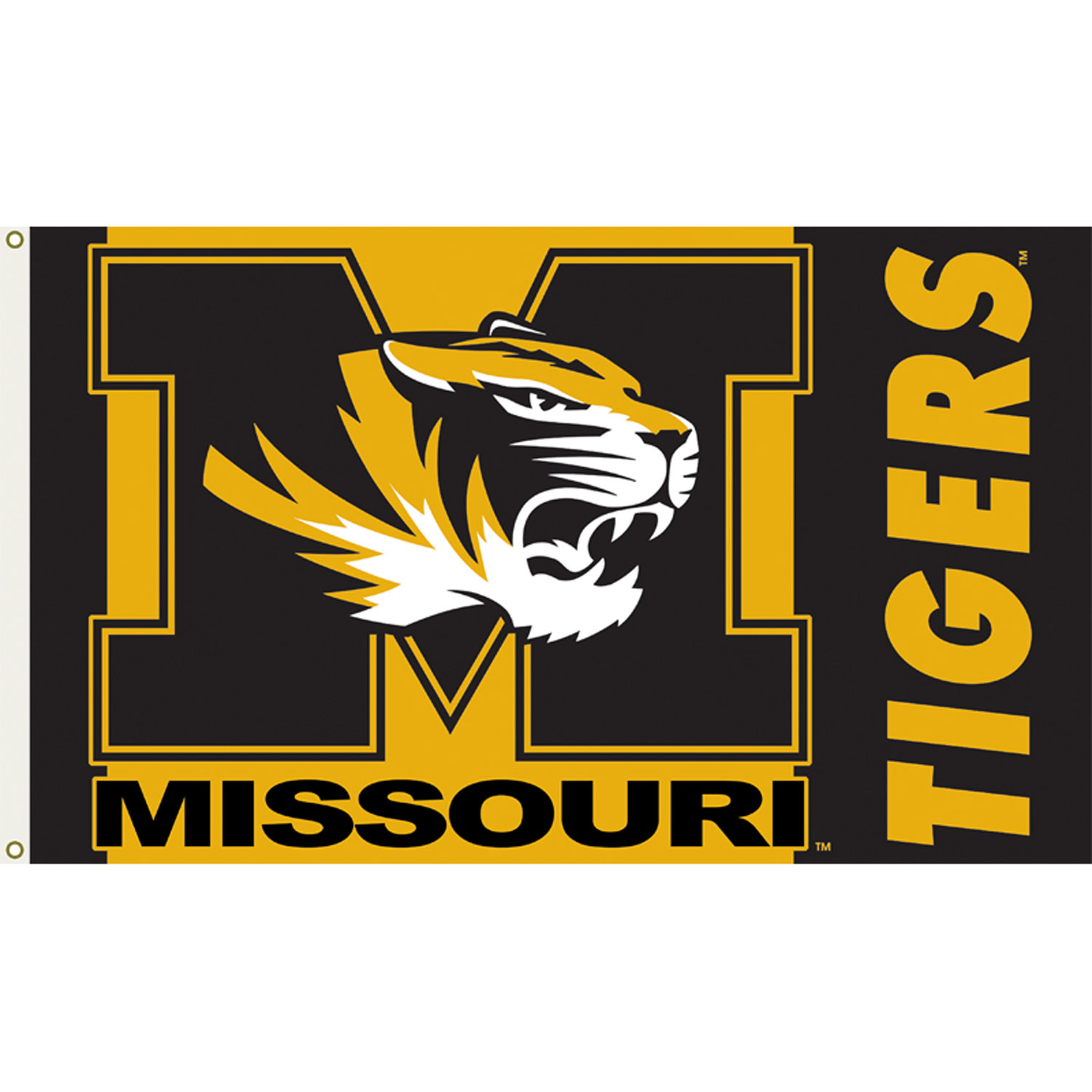 Missouri Tigers 3ft x 5ft Team Flag.