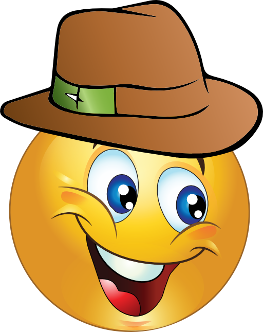 Mister Smiley Emoticon Clipart.
